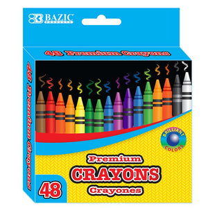 48 Ct. Premium Color Crayons - Bazicstore