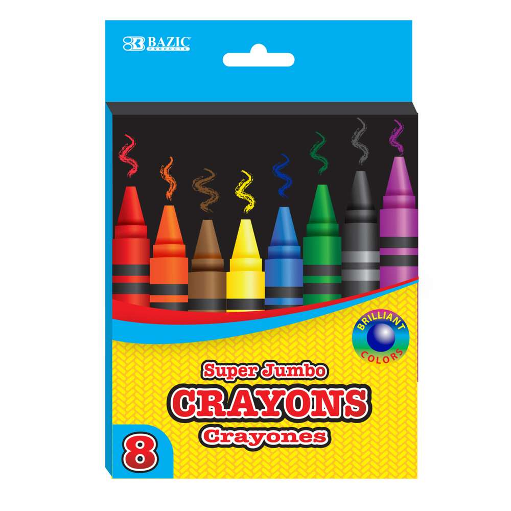 #2512 8 Color Premium Super Jumbo Crayons