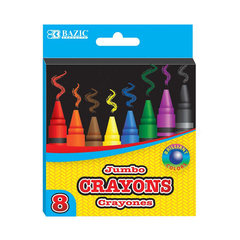 #2518 8 Color Premium Quality Jumbo Crayons