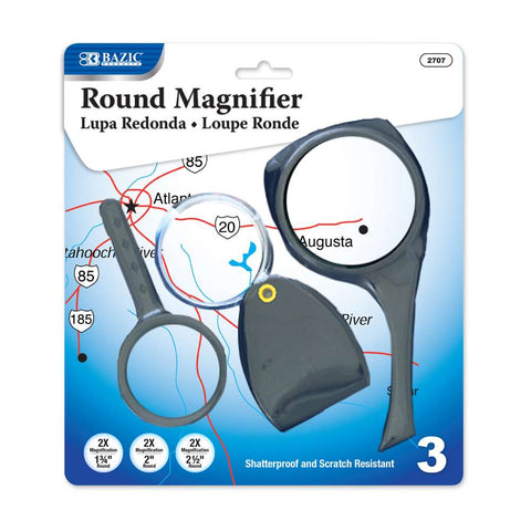 BAZIC 2x Magnifier Sets (3/Pack)