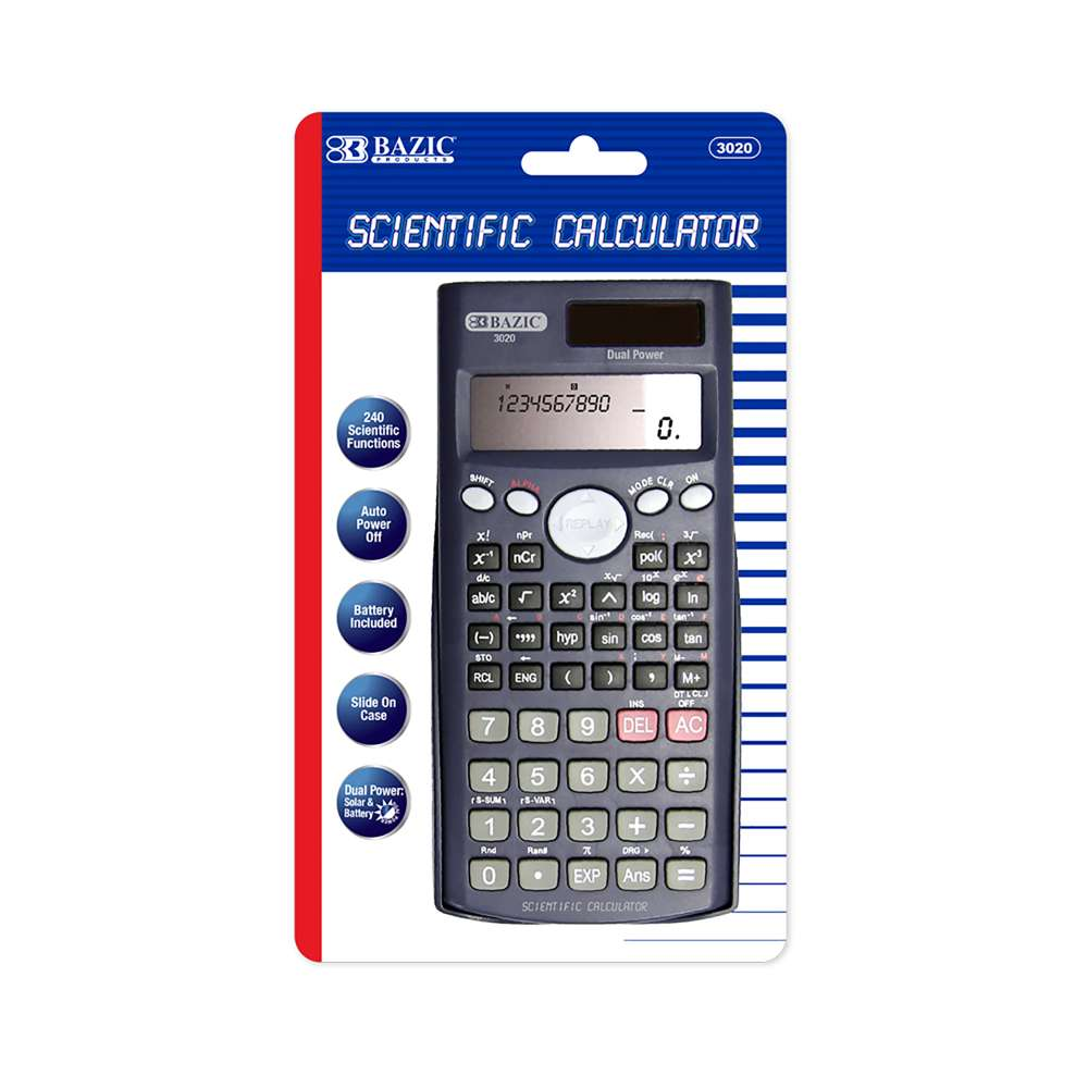 240 Function Scientific Calculator w/ Slide-On Case - Bazicstore