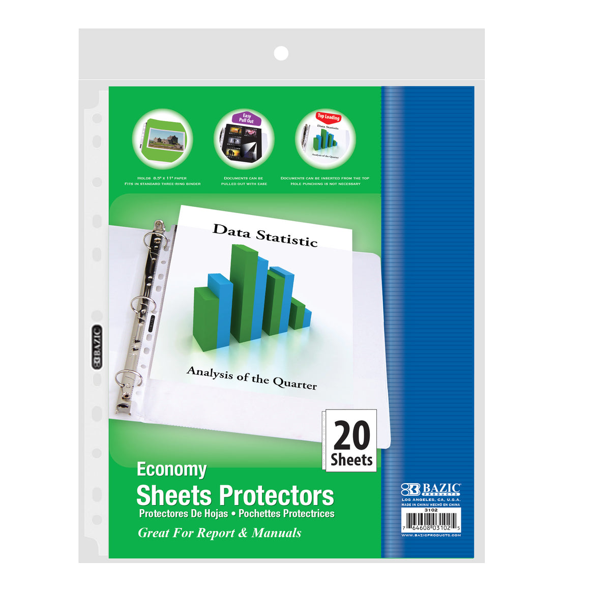 Economy Weight Top Loading Sheet Protectors (20/Pack)