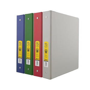 "1.5"" Assorted Color 3-Ring Binder w/ 2-Pockets - Bazicstore"