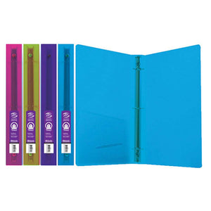 "1"" Glitter Poly 3-Ring Binder w/ Pocket - Bazicstore"
