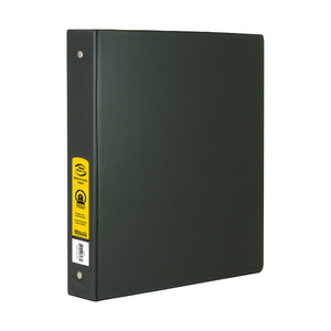 "1"" Black 3-Ring Binder w/ 2-Pockets - Bazicstore"