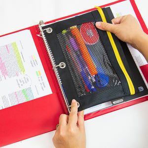 "1"" Asst. Color 3- Ring Binder w/ 2-Pockets"