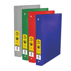 "1"" Asst. Color 3- Ring Binder w/ 2-Pockets - Bazicstore"