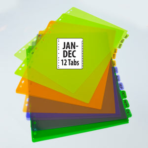 Dividers w/ 12-Preprinted Jan-Dec Tab - Bazicstore