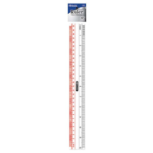 "Claro 12"" (30cm) Transparent Plastic Ruler"