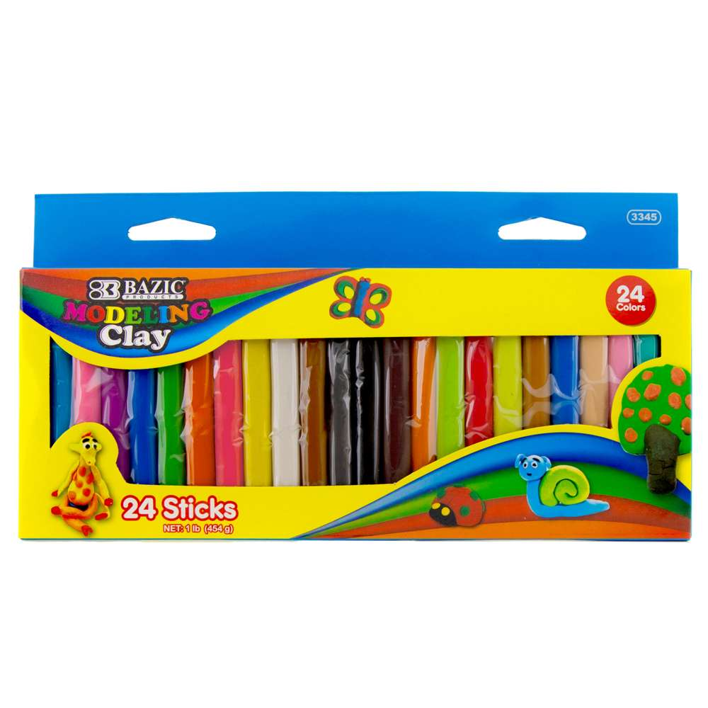 #3345 24 Color 454 g /16 oz. Modeling Clay Sticks