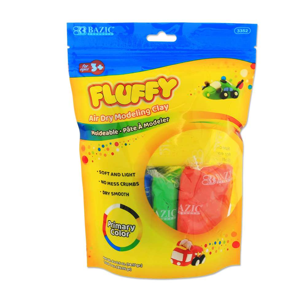 0.5 Oz 6 Primary Color Air Dry Modeling Clay
