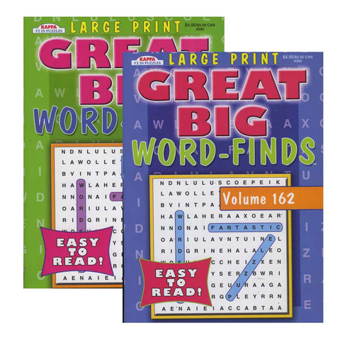 KAPPA Large Print Great Big Word Finds Puzzle Book