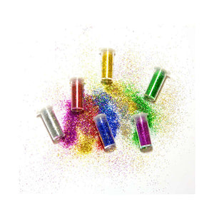 3g / 0.10 Oz. 6 Primary Color Glitter Shaker