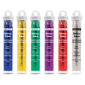 0.77oz (22g) Primary Color Glitter Tubes - Bazicstore