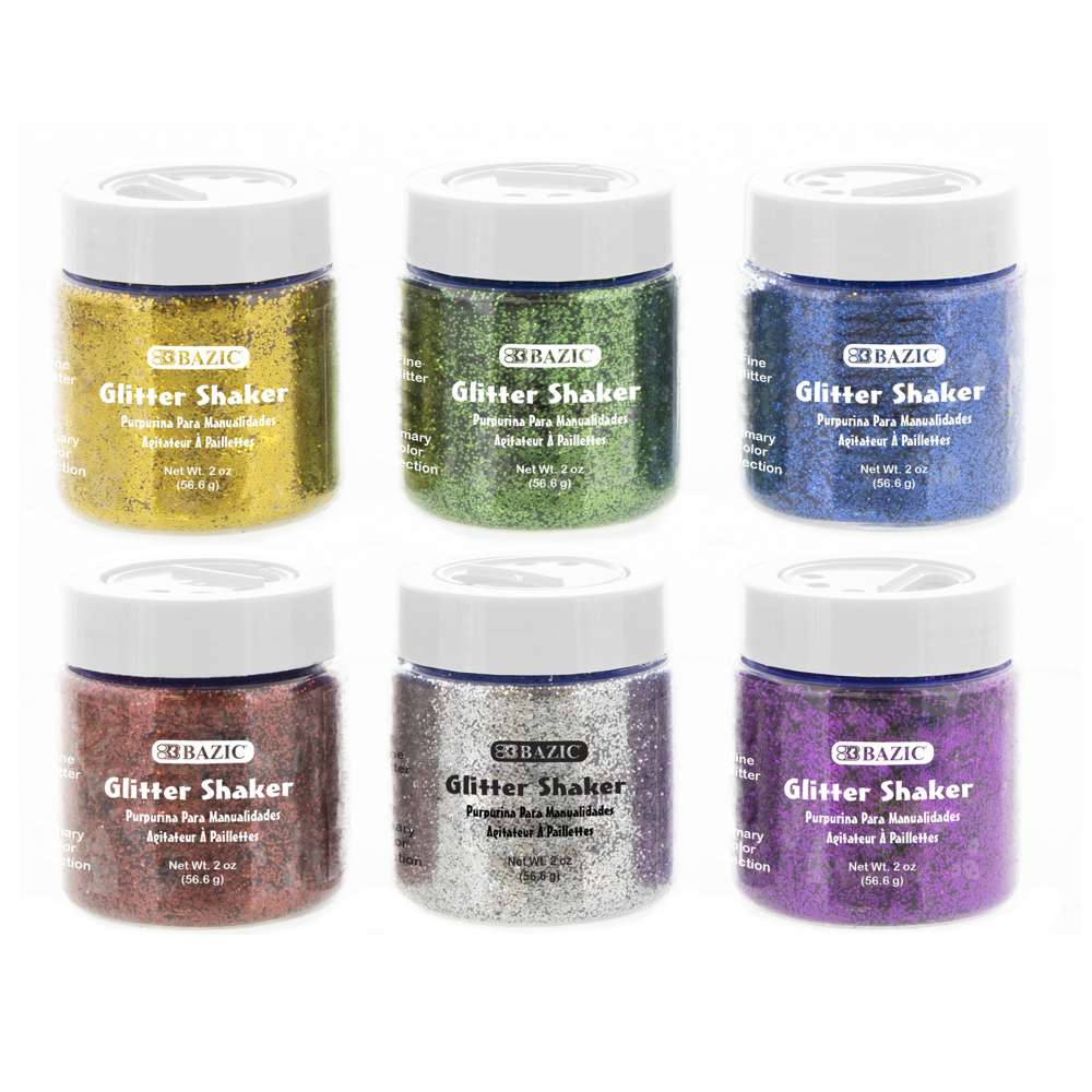 2 Oz (56.6g) Primary Color Glitter Shaker - Bazicstore