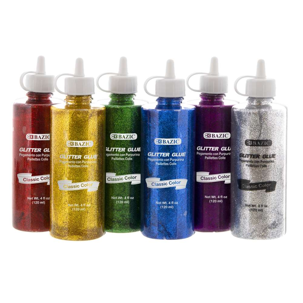 4 FL OZ (120 mL) Classic Color Glitter Glue - Bazicstore