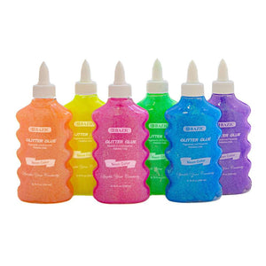 6.76 FL OZ (200 mL) Neon Color Glitter Glue - Bazicstore
