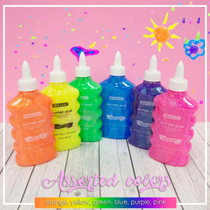 6.76 Oz. (200 mL) Neon Color Glitter Glue