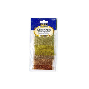 0.07oz (2g) 6 Gold Color Glitter Pack - Bazicstore