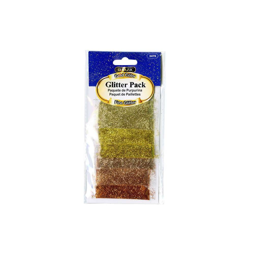 2g Gold Color Glitter Pack (6/pack)
