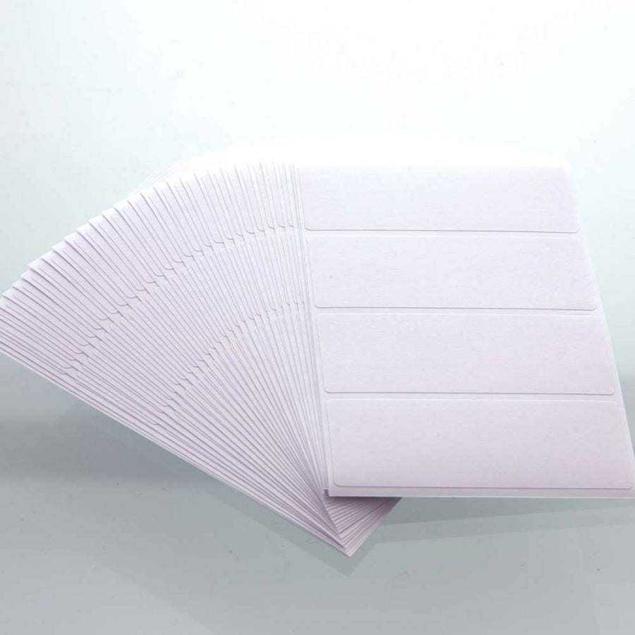 "2 3/4"" X 1"" White Multipurpose Label (128/Pack) - Bazicstore"