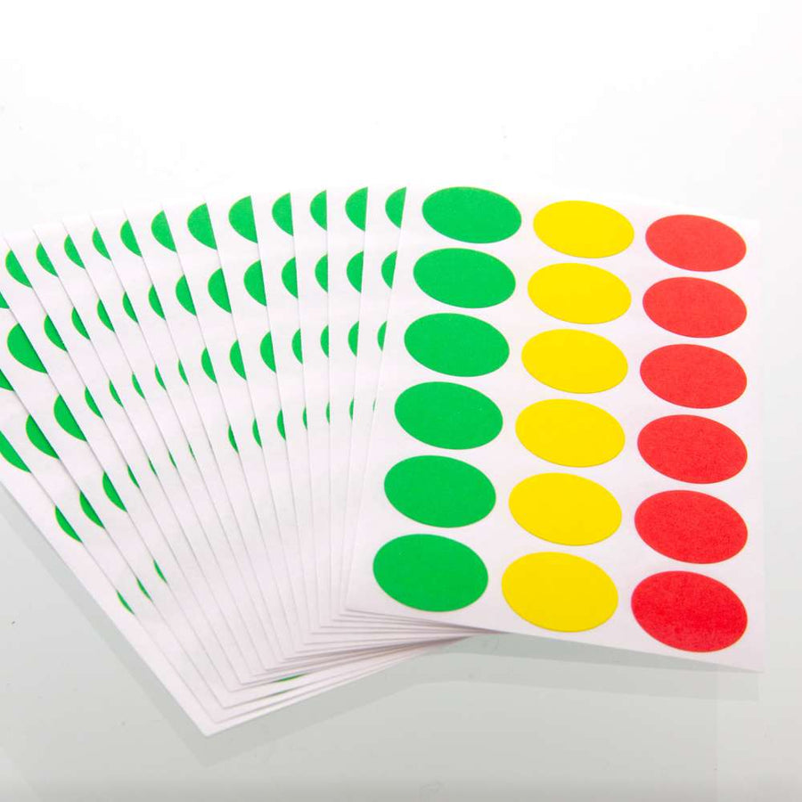 "Assorted Color 3/4"" Round Label (306/Pack) - Bazicstore"