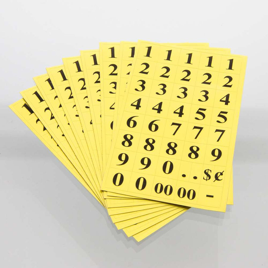 Gold Foil Number Label (378/Pack) - Bazicstore