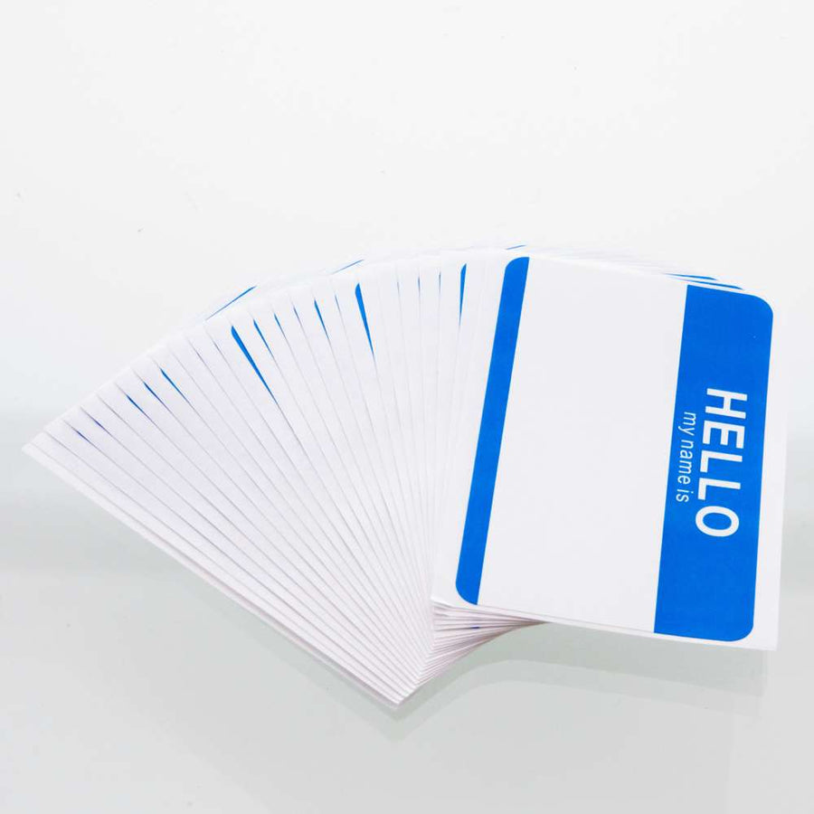 """HELLO my name is"" Name Badge Label (25/Pack) - Bazicstore"