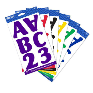 "2"" Assorted Color Alphabet & Numbers Stickers (10 SHEETS) - Bazicstore"