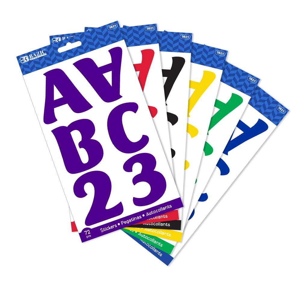"2"" Alphabet Stickers (10 SHEETS)"