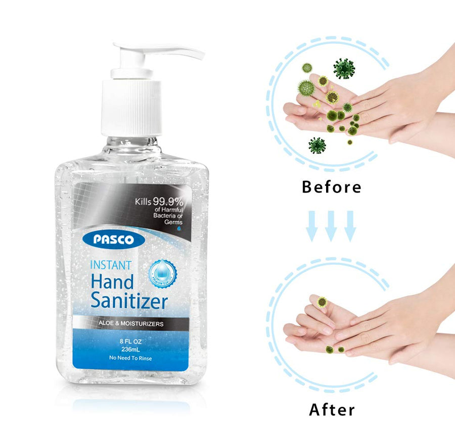PASCO 70% Alcohol Hand Sanitizer w/ Aloe & Moisturizers (20 fl. oz)