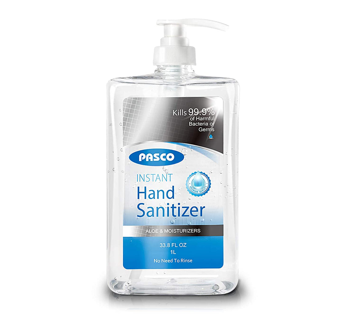 PASCO 70% Alcohol Hand Sanitizer w/ Aloe & Moisturizers (33.8 fl. oz)