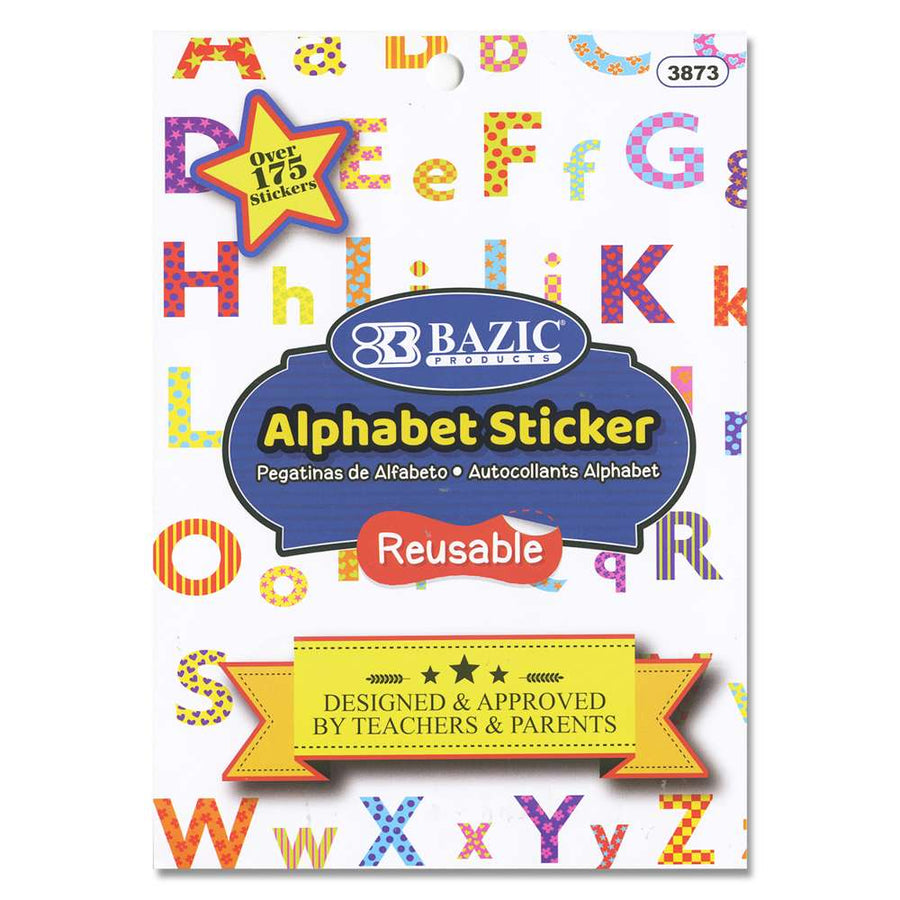 Alphabet Plastic Sticker book - Bazicstore