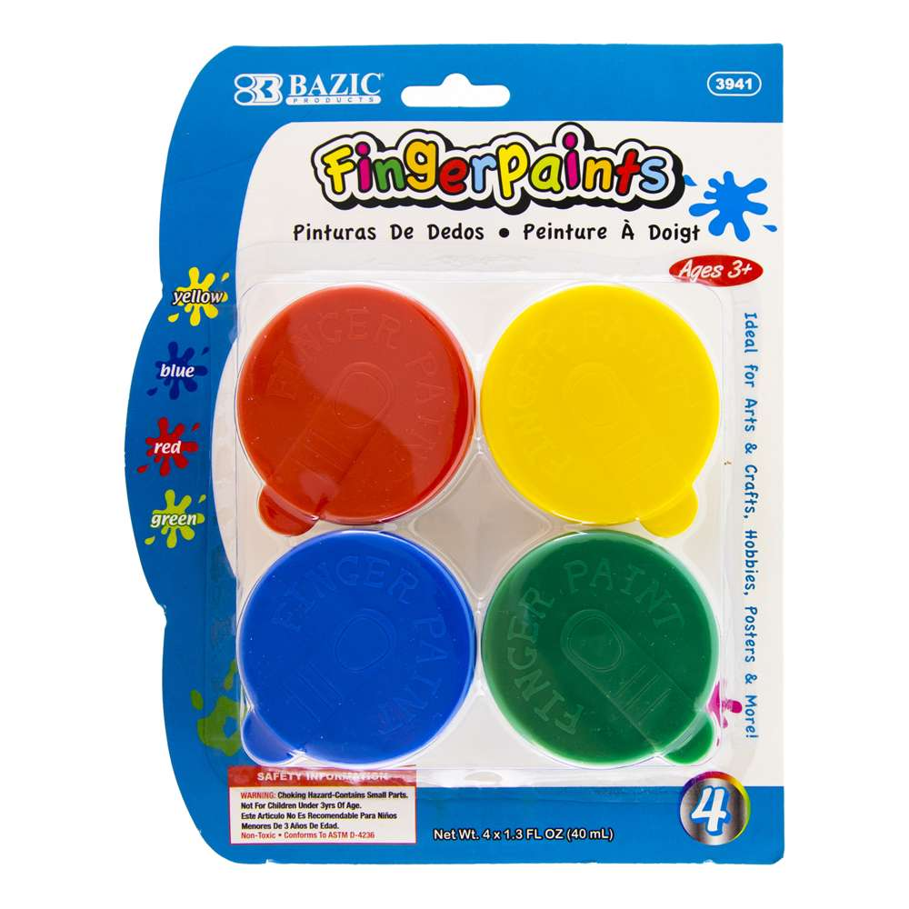 1.35 FL OZ (40 ml) 4 Color Finger Paint