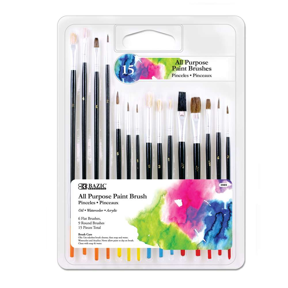 All Purpose Paint Brush (15/Pack) - Bazicstore