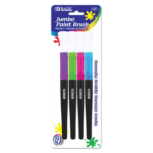 Jumbo Kid's Paint Brush Set (4/Pack) - Bazicstore