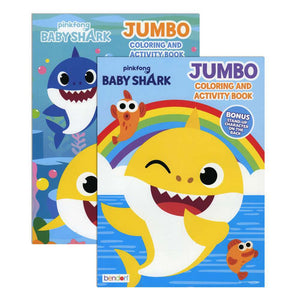 BABY SHARK Jumbo Coloring & Activity Book