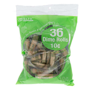 Dime Coin Wrappers (36/Pack) - Bazicstore