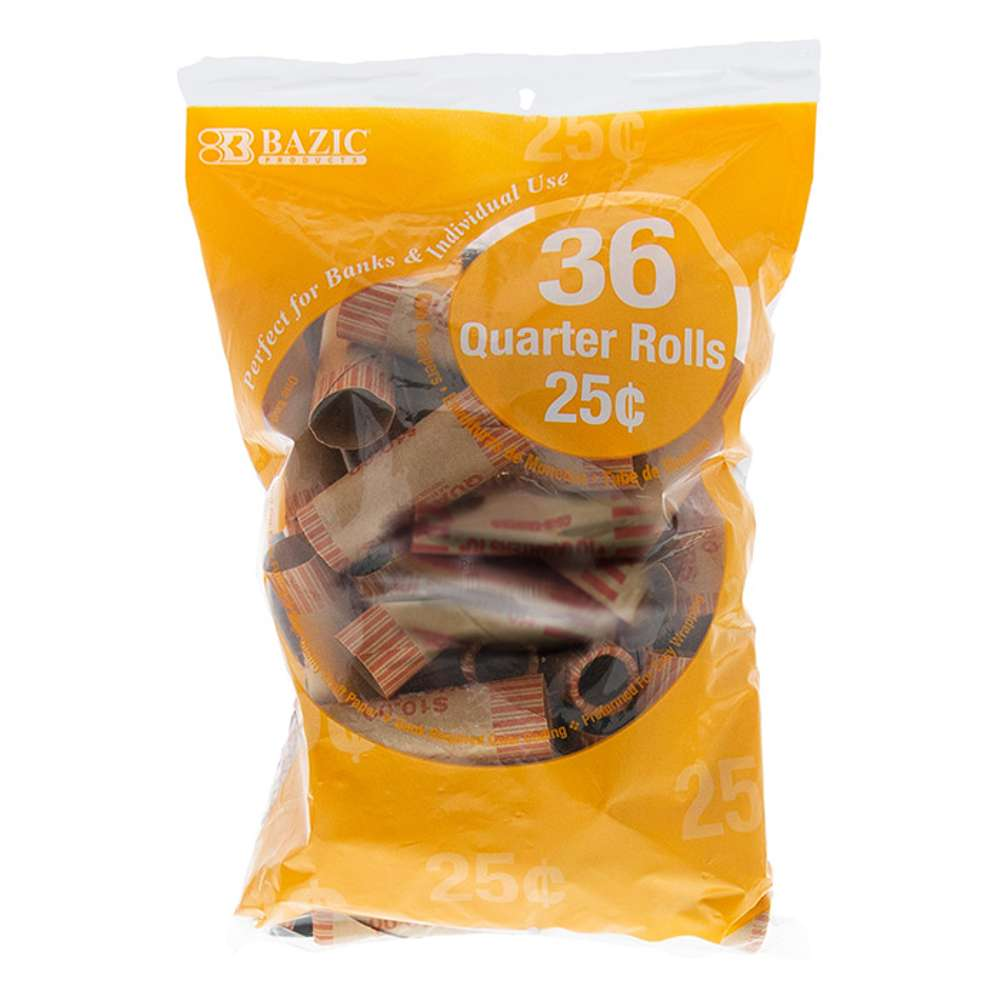 Quarter Coin Wrappers (36/Pack)