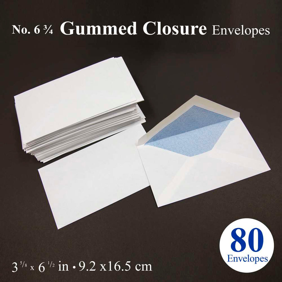 #6 3/4 Security Envelope w/ Gummed Closure (80/Pack) - Bazicstore