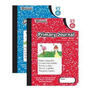 100 Ct. Primary Journal Marble Composition Book - Bazicstore