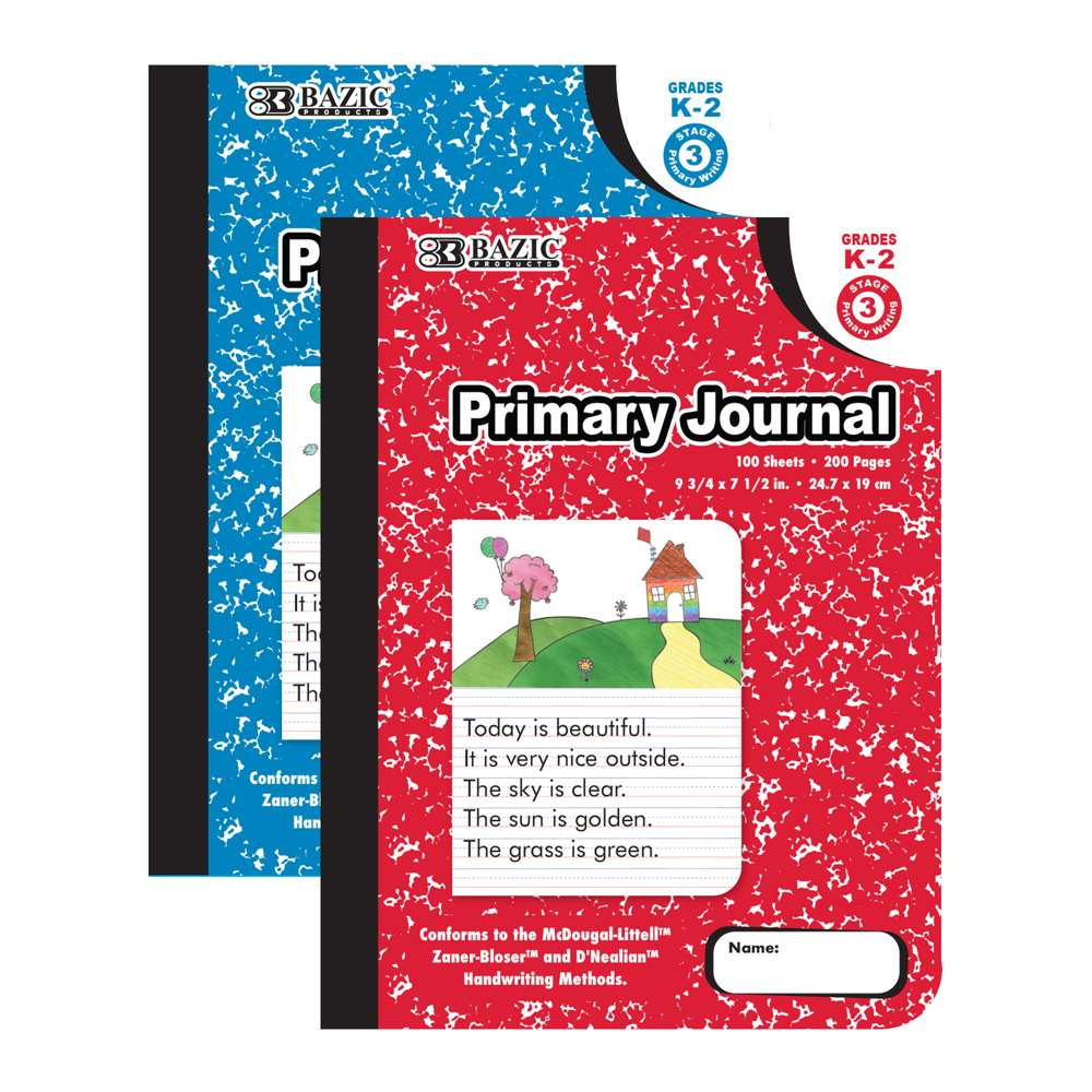 100 Ct. Primary Journal Marble Composition Book