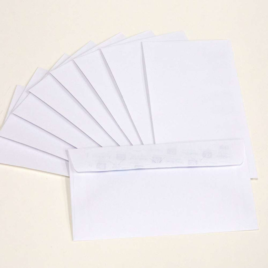#6 3/4 Self-Seal White Envelope (65/Pack) - Bazicstore