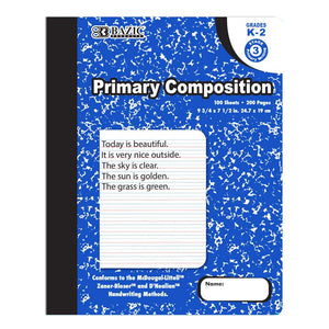 100 Ct. Primary Marble Composition Book