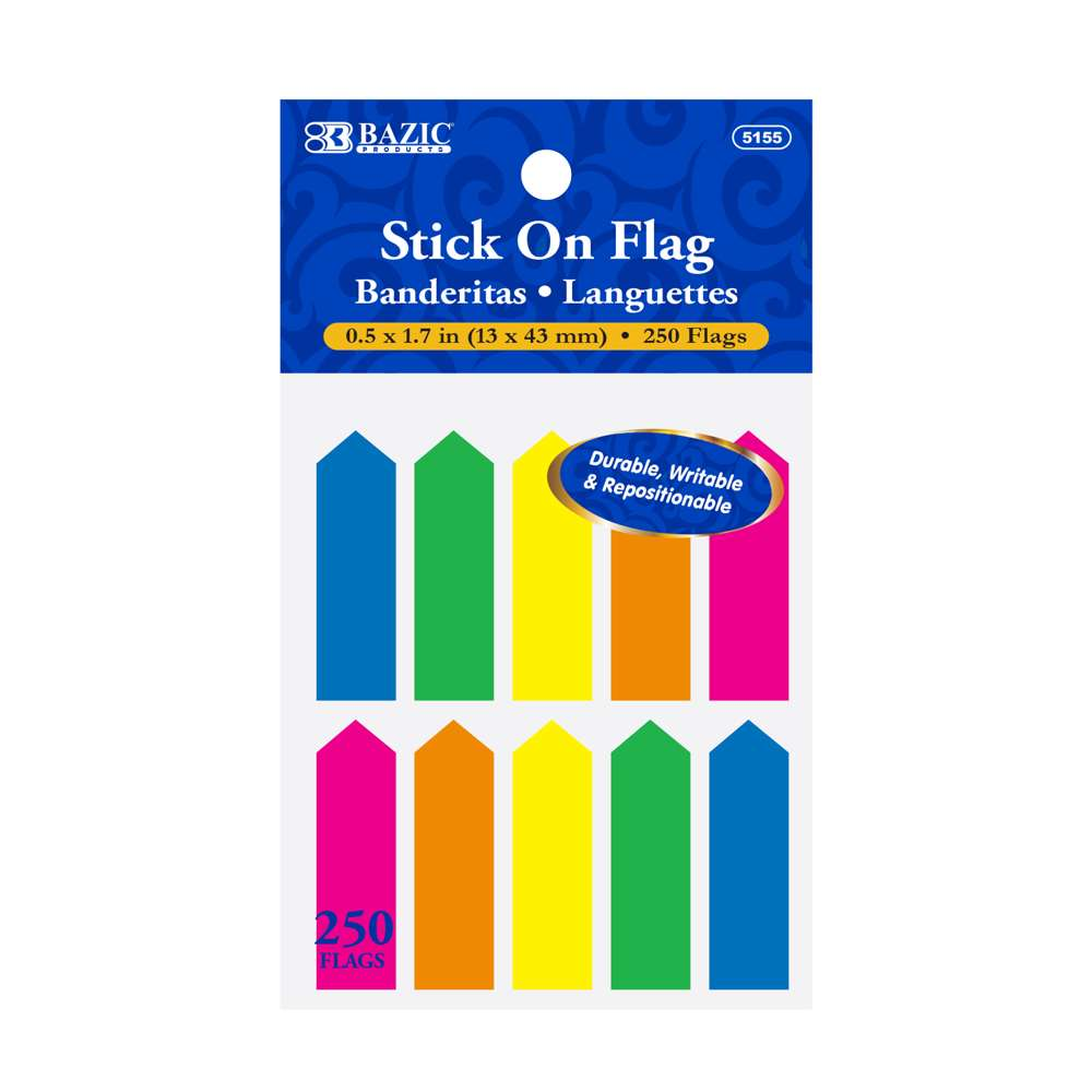 "25 Ct. 0.5"" X 1.7"" Neon Color Arrow Flags (10/Pack) - Bazicstore"