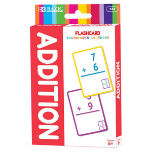 Addition Flash Cards (36/Pack) - Bazicstore