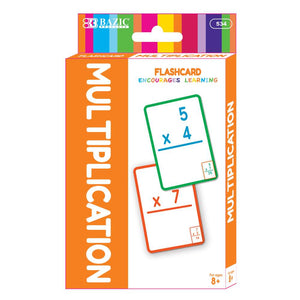 Multiplication Flash Cards (36/Pack) - Bazicstore