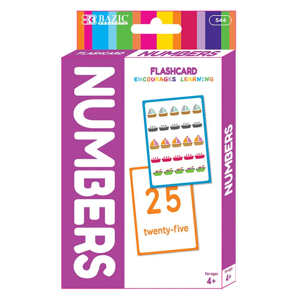 BAZIC Numbers Flash Cards (36/Pack)