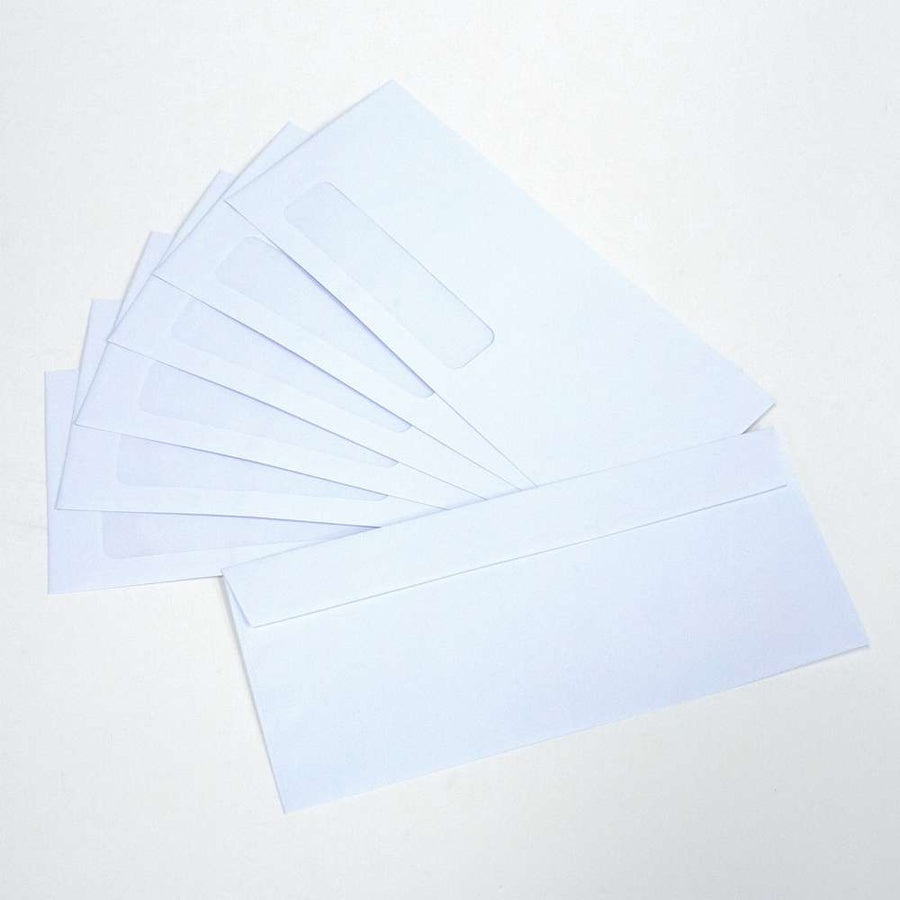 #10 Self-Seal White Single Window Envelopes (500/Pack) - Bazicstore