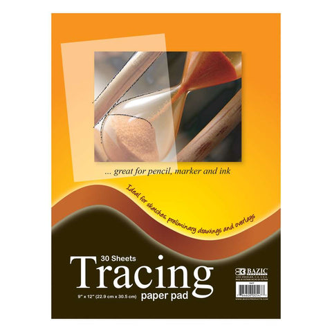 "BAZIC 30 Ct. 9"" X 12"" Tracing Paper Pad"